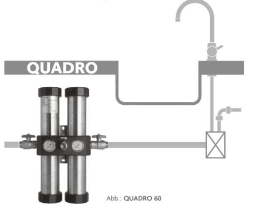 carbonit quadro 60 wasserfilter hausanschluss wasserfilter. Black Bedroom Furniture Sets. Home Design Ideas